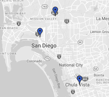 Our Law Offices locations in San Diego